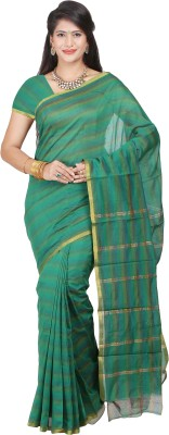 JISB Striped Coimbatore Polycotton Sari