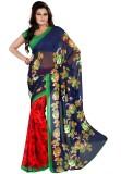Heena Printed Fashion Synthetic Saree (R...