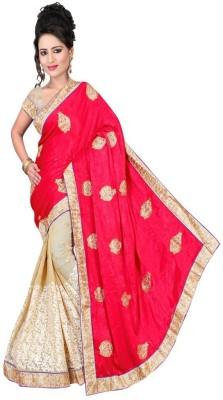 Nidhik Embriodered Fashion Satin Sari