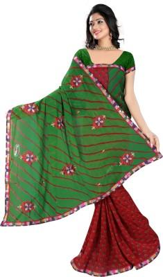 Nandnandan Silk Mills Embriodered Daily Wear Handloom Polyester Sari