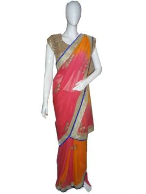 SanSaree Embellished Bollywood Georgette Sari