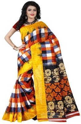 Sunita Sarees Checkered Fashion Art Silk Sari