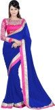 Treadindia Solid Bollywood Georgette Sar...