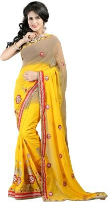 Shree Shyam Silk Embriodered Bollywood Georgette Sari