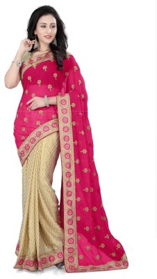 RoopMantra Embriodered Fashion Georgette Sari