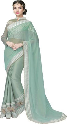 Manish Creation Embriodered, Self Design Bollywood Lycra, Brocade, Georgette, Satin Sari