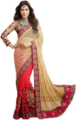 Isha Enterprise Embriodered Bollywood Handloom Jacquard Sari
