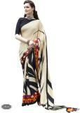 H Raj Striped Fashion Crepe Sari