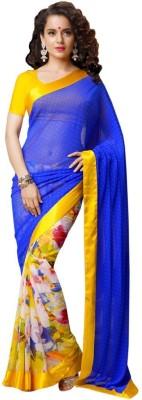 Hexo Printed Bollywood Swiss Dot Sari