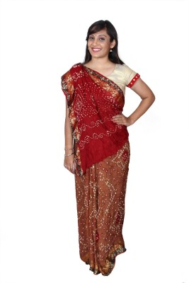 Kajci Woven Bandhani Art Silk Sari