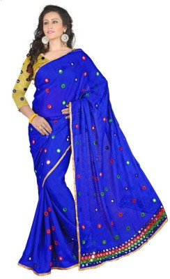 Rumsha sarees Embriodered Fashion Georgette Sari