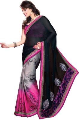 Trimurti Fashion Embriodered Fashion Georgette Sari
