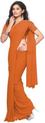 Surupta Plain Fashion Georgette Sari