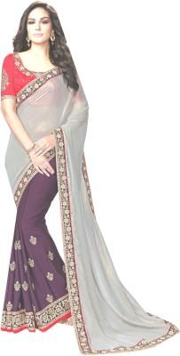 NARGIS FASHION Embriodered Fashion Georgette, Chiffon Sari