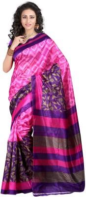 Bansy Fashion Solid Assam Silk Georgette Sari