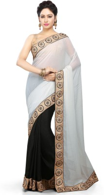 Bay & Blue Embriodered Fashion Chiffon Sari
