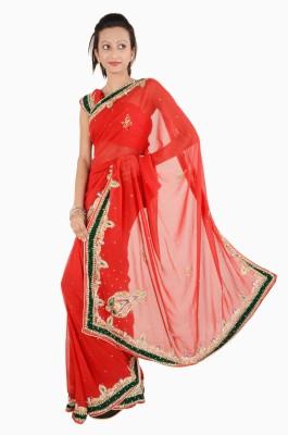 Vasundhara Lifestyle Embriodered Fashion Chiffon Sari