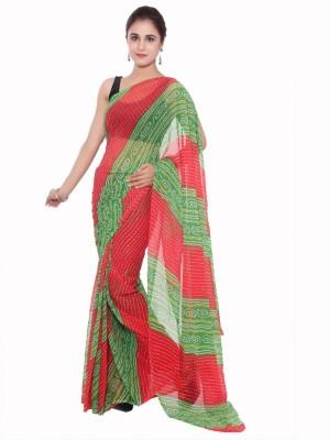 Aaradhya Fashion Self Design Leheria Handloom Georgette Sari