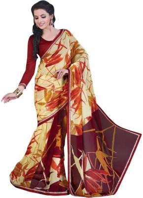 Bliss Era Graphic Print Chanderi Georgette Sari