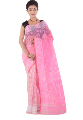 ksc Self Design Jamdani Handloom Silk Sari