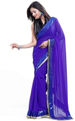 Cute N Classy Self Design Bollywood Georgette Sari