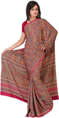MGS Printed Fashion Crepe Sari