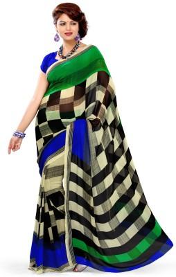 EthnicQueen Floral Print Bandhej Georgette Sari