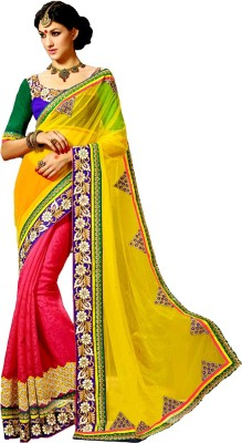 Bhargav Sarees Self Design Bollywood Handloom Georgette Sari