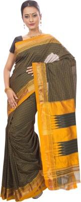 Dhammanagi Checkered, Woven Ilkal Handloom Pure Silk Sari