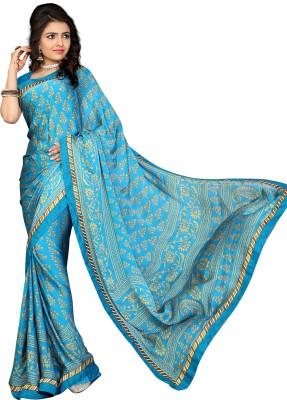 Jiya Self Design, Printed Fashion Satin, Chiffon Sari