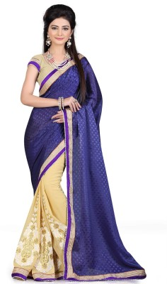shart Self Design Maheshwari Georgette Sari