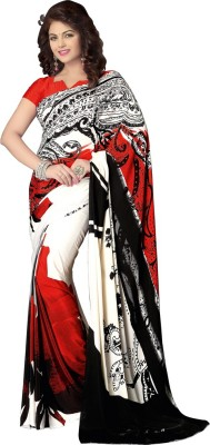 Shop Plaza Printed Daily Wear Crepe Sari