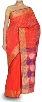 Rudrakshhh Dhakai Embriodered Baluchari Handloom Cotton Sari