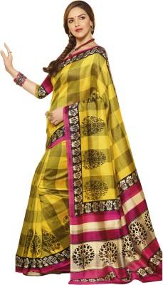 Shoppingover Printed Daily Wear Art Silk Sari