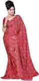 Vogue Era Self Design Bandhani Crepe Sar...