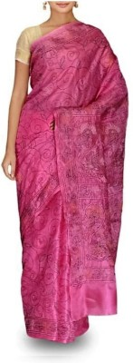 FabIndian Embriodered Katha Handloom Cotton Sari