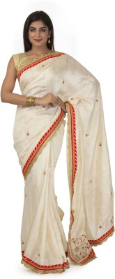 RANAS Self Design Fashion Handloom Raw Silk Sari