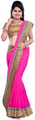 NirvaFashion Embriodered Bollywood Pure Chiffon Sari
