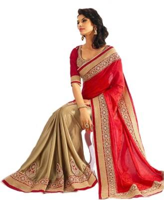 Vihana Embriodered Bollywood Silk Sari