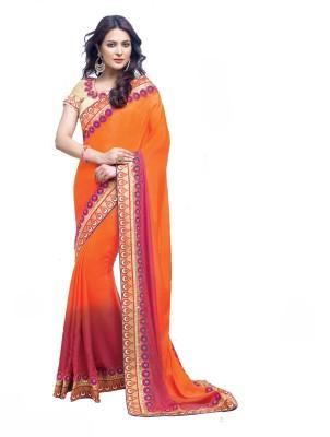 Nilu Tex Embriodered Bollywood Handloom Georgette Sari