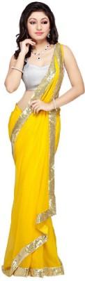 Leranath Enterprise Solid Fashion Georgette Sari