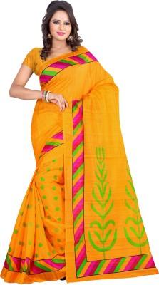 EthnicBasket Printed Fashion Silk Sari