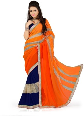 Aryansh Designers Self Design Fashion Georgette Sari