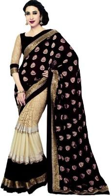Usha Silk Mills Self Design Fashion Viscose Sari