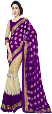 LeepsPrints Embriodered Bollywood Georgette Sari