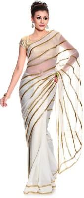 Glamour Tex Striped Bollywood Georgette Sari