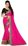 Happyshop Solid Bollywood Chiffon Saree ...