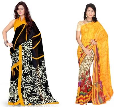 EthnicQueen Floral Print Fashion Georgette Sari