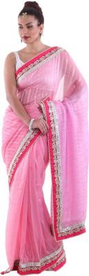 Aumkar Self Design Fashion Chiffon Sari