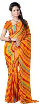 Fashion Tadka Printed Leheria Chiffon Sari